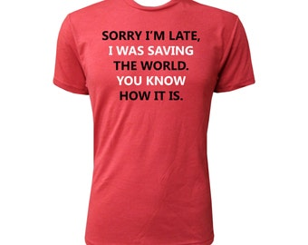 Sorry I'm Late - NLA Vintage Red