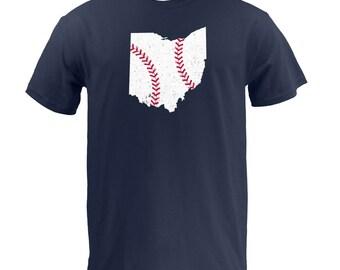 Ohio Baseball (White/Red) - Navy