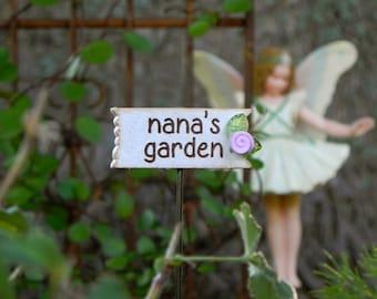 Fairy Garden Sign nana's garden accessories for miniature garden terrarium accessory small sign