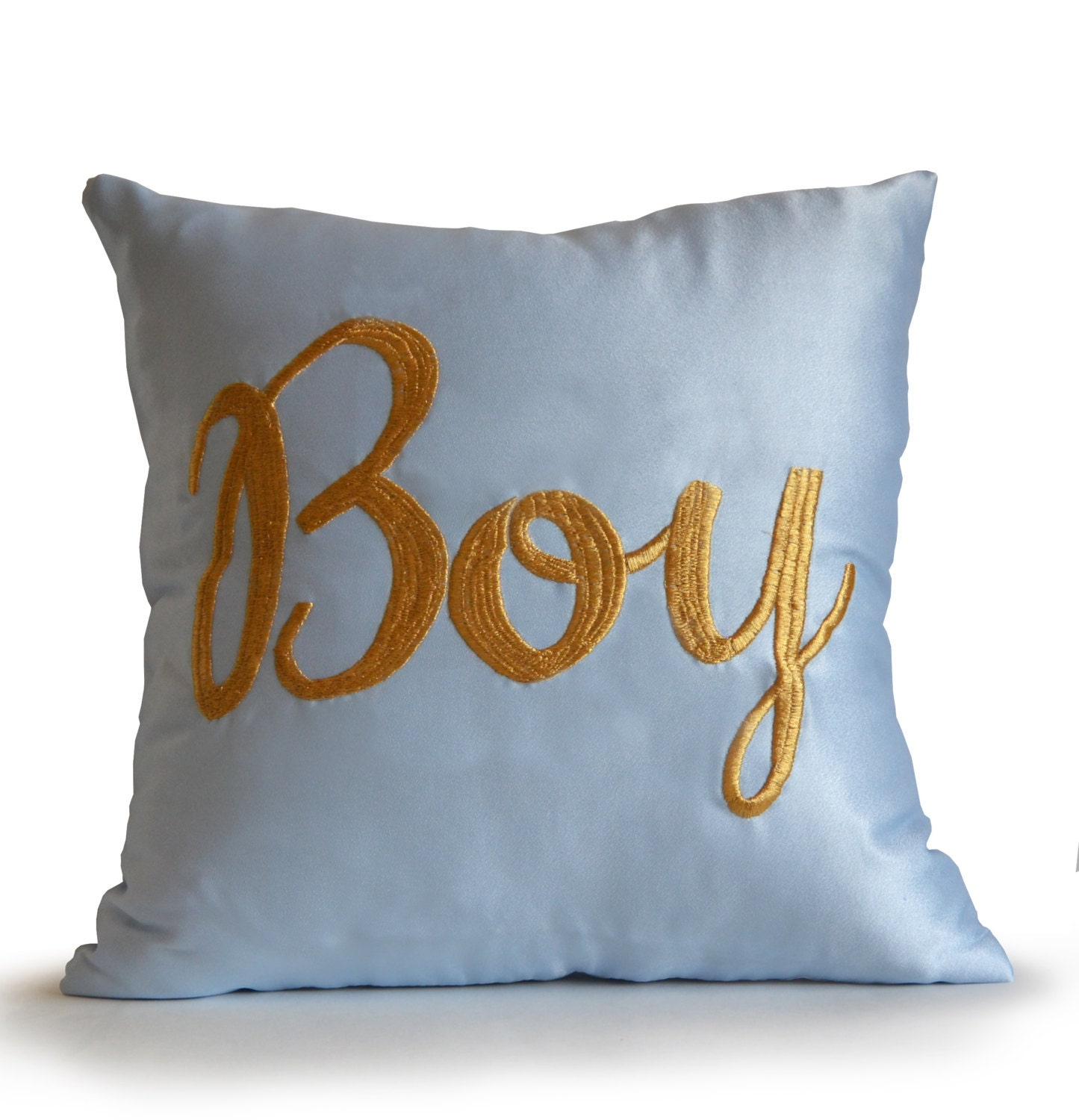 Throw Pillows Aqua Blue : Aqua Blue Satin Throw Pillow Cover Blue Decorative Pillows