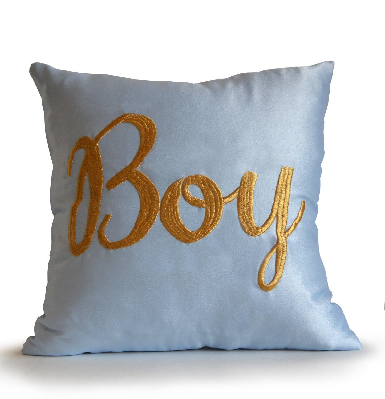 Aqua Blue Satin Throw Pillow Cover Blue Decorative Pillows