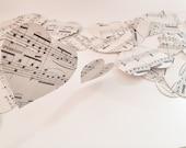 Paper wedding decoration  garlands,sheet music