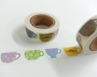 Lovely Tea Cup Washi / Masking Tape - 10M