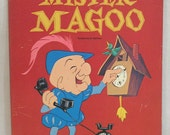 Vintage Mister Magoo 128 Page Coloring Book Circa 1965 by Whitman / Whitman Crayon Ad on Back Cover
