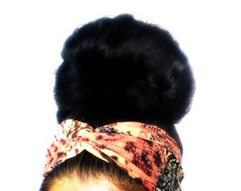 Perfect Turban Headband Twist Head Wrap, Twisted Hair Wrap, Women's Hair Accessories, Cheetah Ethnic Animal Print Headband, Turban Hair Band