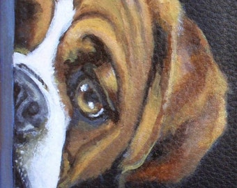 Large Double Zipper Wallet Hand Painted of Karl the Boxer