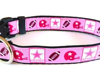 Dallas Cowboys Dog Collar (Pink)