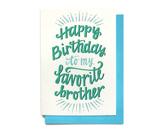 Favorito Scheda di compleanno del fratello buon compleanno a mio YH39