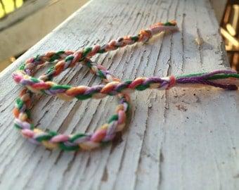 tie dye friendship bracelet, four strand braided bracelet, best friends jewelry, bff, multicolored, colorful bracelet gifts for friends