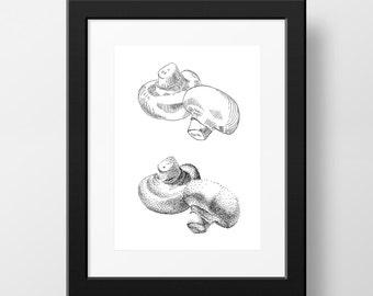 Mushrooms - 5 x 7 Print