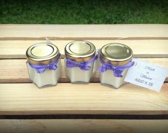 1 Mini Soy Candle UNSCENTED - Personalized Wedding Favor - Sample Wedding Favor Baby Shower Favor - Bridal Shower Favor