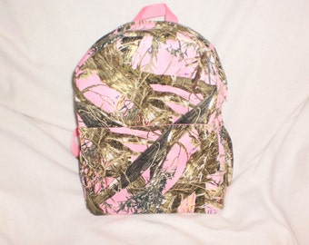 Pink camo backpack | Etsy