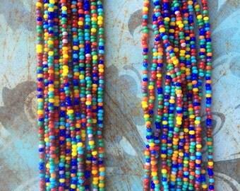 Boho style beads. Multicolored
