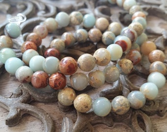 6mm African Opal Jasper Round Beads,  full strand. 50pcs