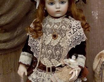 """Bru Jne 14 """"Anita"""",  French antique replica, Porcelain/Compo"""