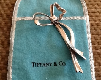 Tiffany & Co. Sterling Silver Vintage Ribbon Bow