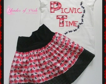 Picnic Time custom size 12m-6Y ants girls toddler