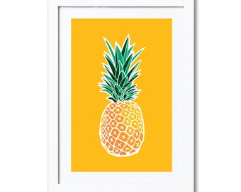 """Pineapple, A4 8x10"""" A3 or 11x14"""", printed"""