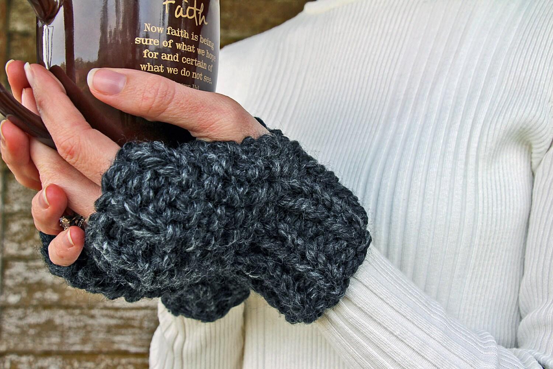 Knitting Patterns For Leftover Wool : Fingerless Gloves Knitting Pattern Leftover Yarn by bromefields