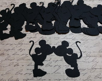 Mickey & Minnie. Die Cut Shapes.  #H-29