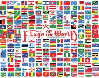 238 Flags of the World circa 1990