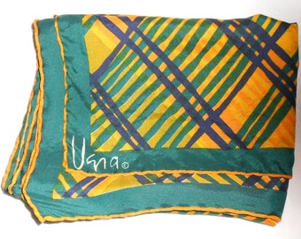 "VERA Scarf vintage neck scarf by Designer Vera is 44"" x 14""  Free USA Shipping"