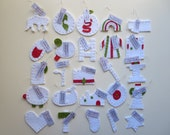 25 felt Jesse Tree ornaments - Our DELUXE 'Christmas Colors' set - with hooks and tags
