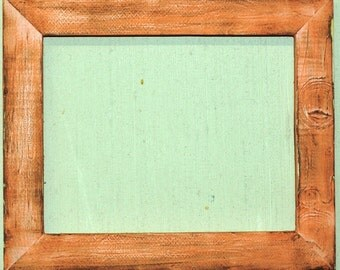 "1-1/2"" Cool Melon Distressed Picture Frame"