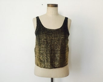 80s Gold Metallic Tank
