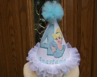 Cinderella Theme Girls Birthday Hat