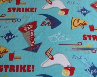 Strike! Bowling Themed Fleece Blanket