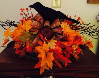 Fall Raven centerpiece