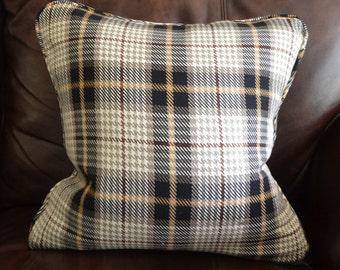 18x18 Custom Plaid Pillow Cover