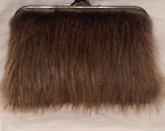 Genuine Beaver Fur Clutch Purse