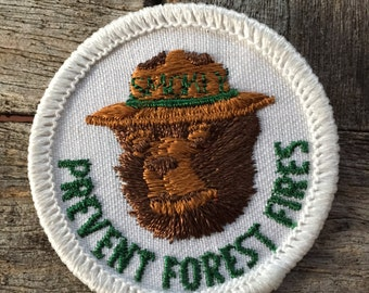 Smokey the Bear Prevent Forest Fires Vintage Patch
