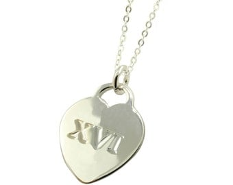 XVI Sterling Silver Sweet 16 Necklace (Free Shipping)