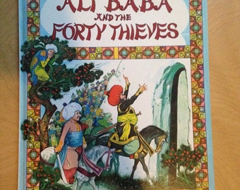 Ali Baba And The Forty Thieves Derrydale 1970s Fairy Tale Large Childrens Book