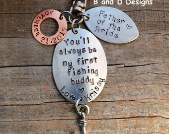 Perfect for Father of the Bride Fishing keychain or lure