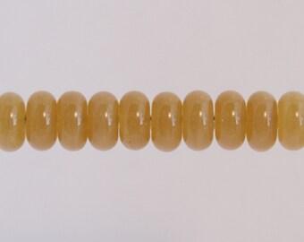 Honey Colored Lampwork Glass Bead Spacer Donut Shape Set.