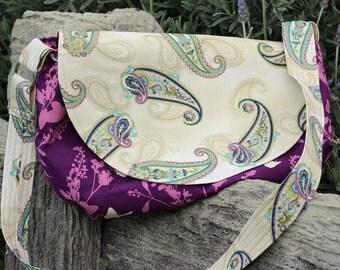 Paisley, Purple Bird Handbag
