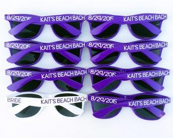 Personalized Sunglasses, Custom Sunglasses, Bachelorette Sunglasses, Wedding Sunglasses, Bach Bash, Bachelorette Gift, Wayfarer Sunglasses