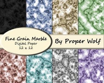 Fine Marble Pattern Digital Scrapbooking Paper - Pastel Colors - Digital Download