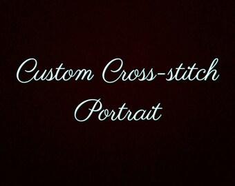 Custom cross-stitch portrait