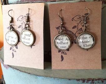 Anne and Gilbert dangle earrings