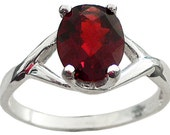 Garnet Ring 9x7mm Genuine...