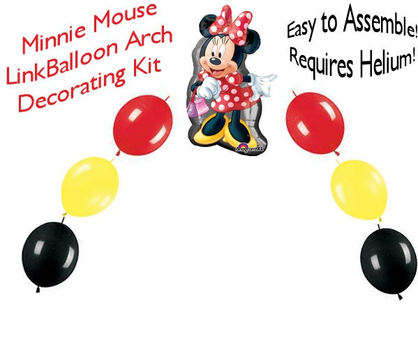 Minnie mouse link balloon arch diy kit party decoration mmb247 for Balloon decoration kit