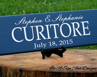 Last Name Family Sign Established Wood Sign Personalized Family Plaque Family Established Sign Personalized Family Home Decor Painted Wood