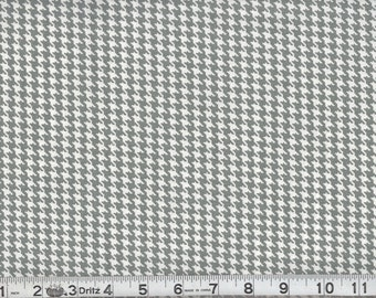 Gray White Houndstooth  Fabric