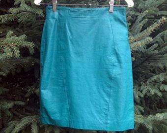 1980's Vintage Leather Skirt