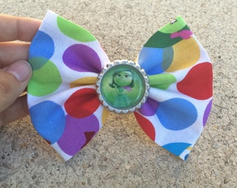 Inside Out Fabric Hair Bow/Bow Tie